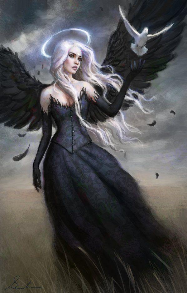 Digital Art By Selene Angel Art Fantasy Art Dark Fantasy