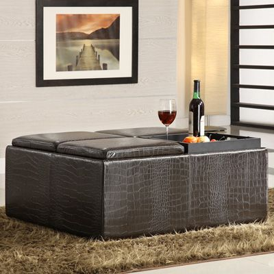 Large Ottoman Coffee Table Trays