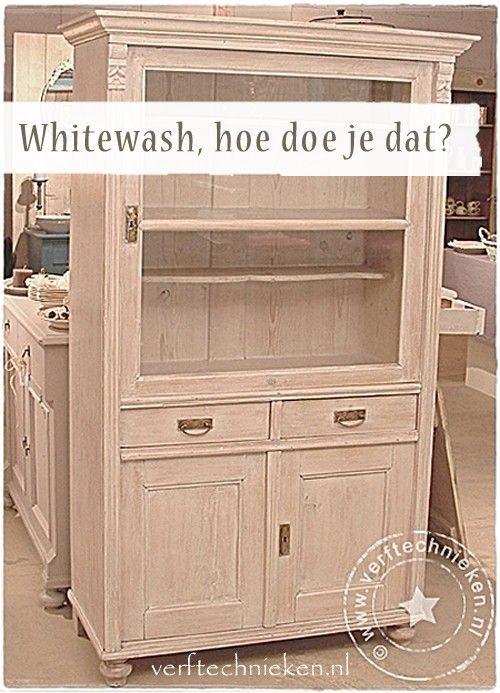 kast whitewash kast verven Pinterest Paint furniture Chalk