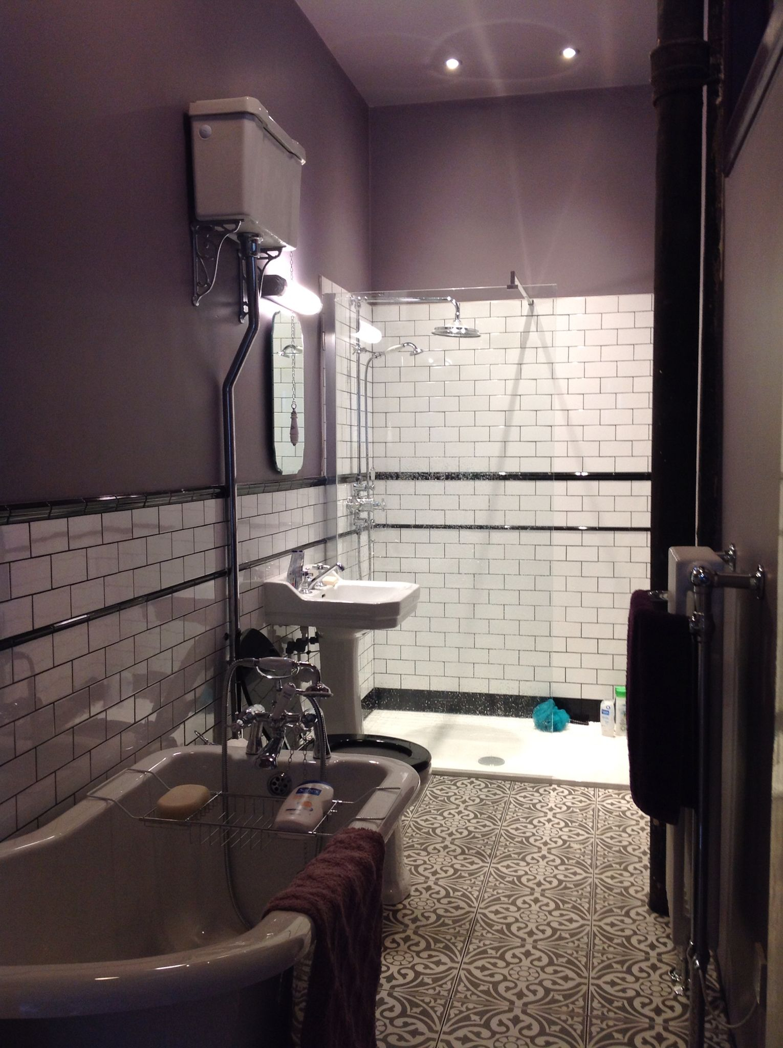 Bathroom finally in full use farrow ball brassica subway farrow ball brassica subway tiles dailygadgetfo Image collections
