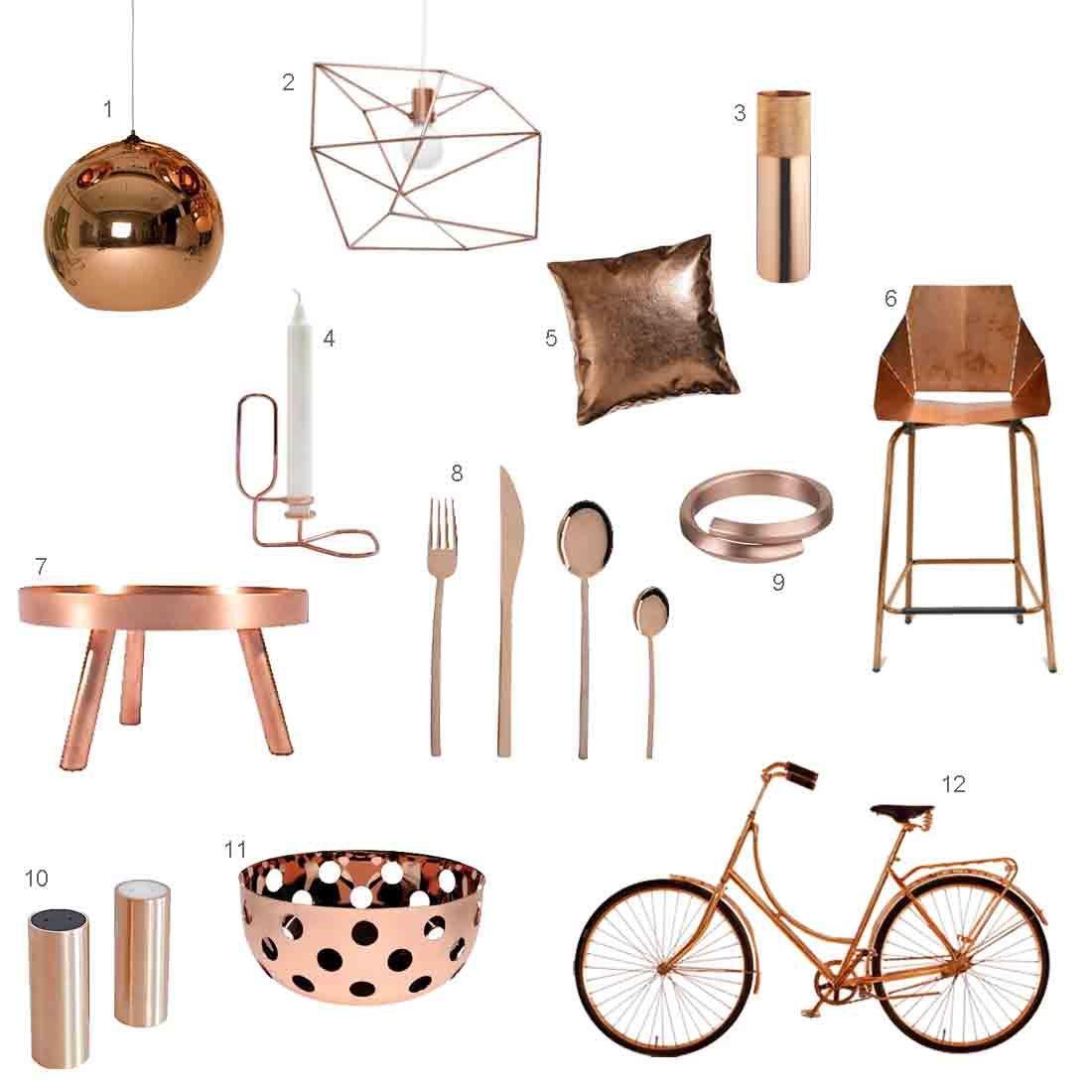 roundup 12 modern copper accessories design milk - Modern Accesories