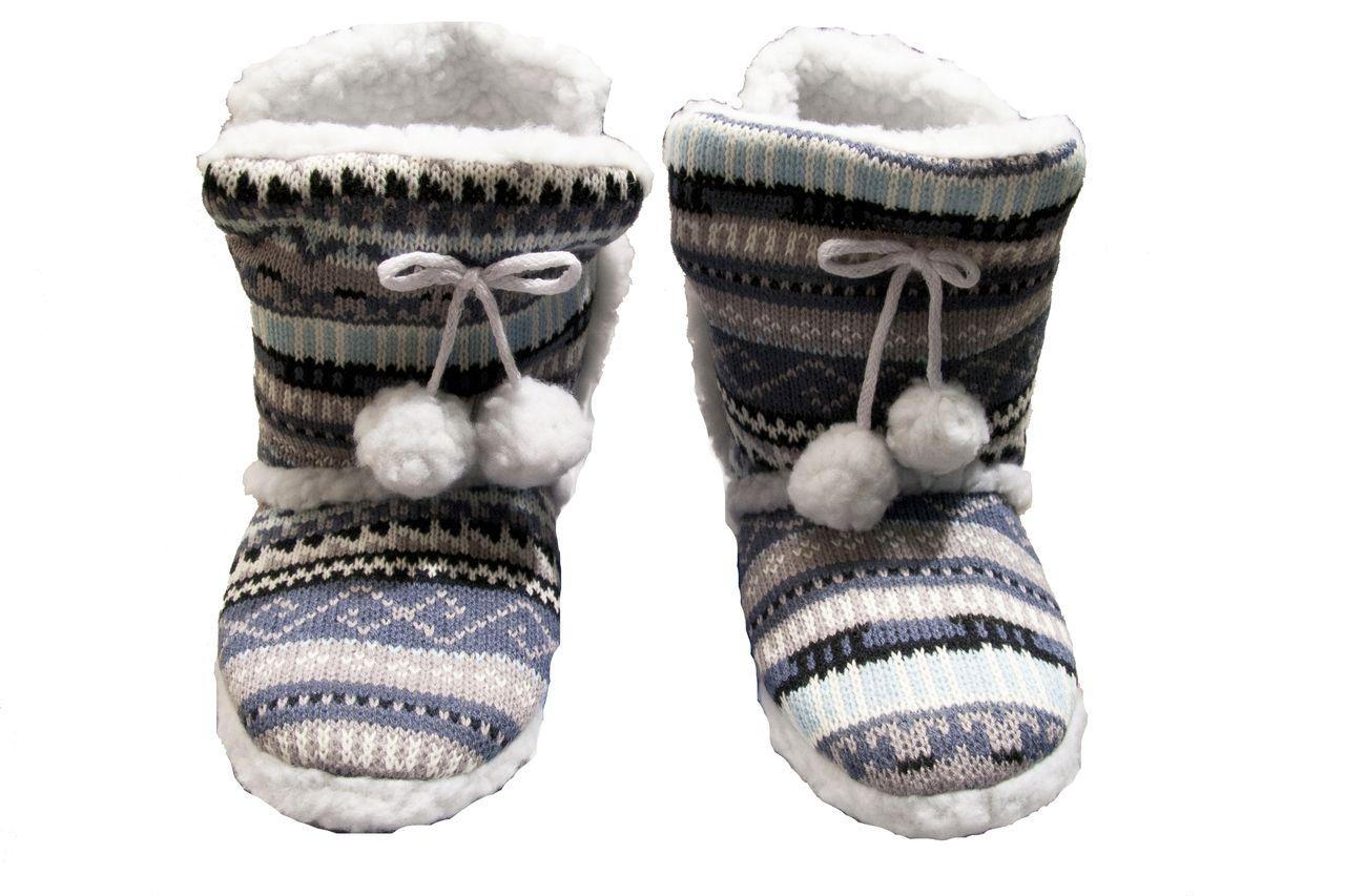 (http://www.labelshopper.com/womens-warm-striped-print-pom-pom-bootie-slippers/)