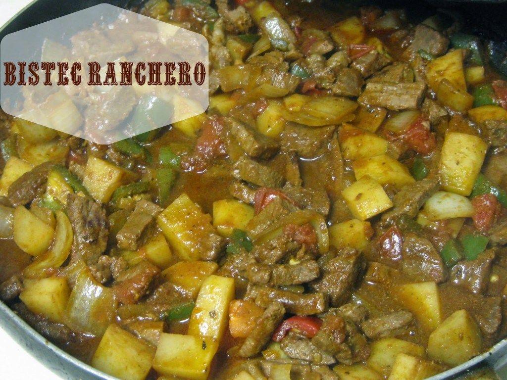 Guiso de bistec ranchero recipe caldo de pollo powder for Comidas faciles para cocinar