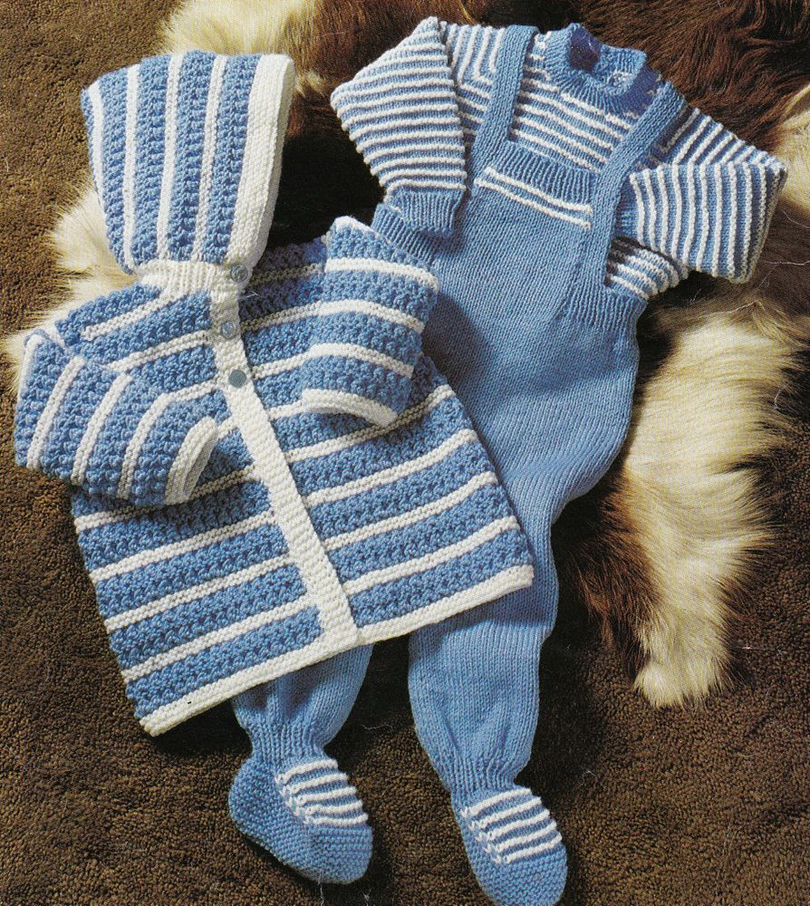 Vintage Knitting Pattern Instructions for Baby Jumper Jacket ...