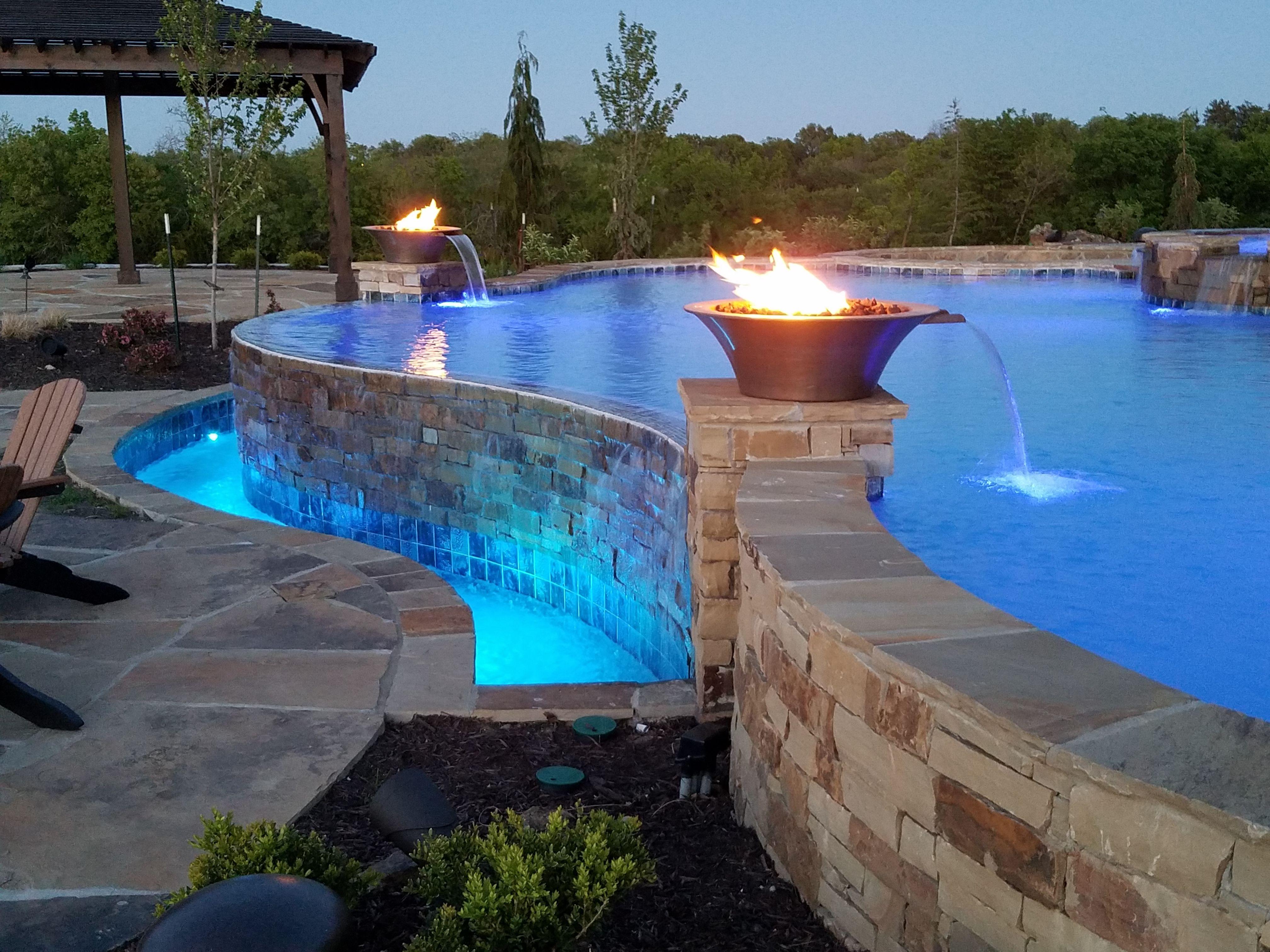 Infinity Edge Pool overlooking Lake in Lenexa Ks