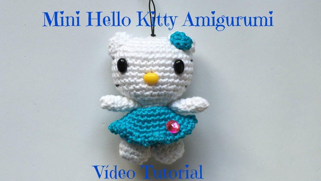 Mini Hello Kitty Amigurumi Vídeo Tutorial   Thú   Pinterest ...