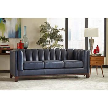 Villa Park Top Grain Leather Sofa Top Grain Leather Sofa Open Living Room Design Leather Sofa