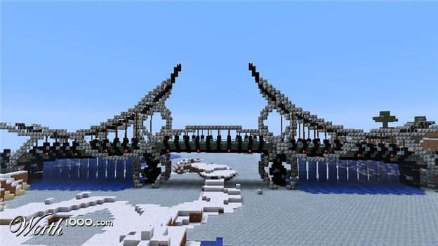 how to make a angled bridge in minecraft