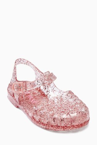 171ba616881f Pink Glitter Jelly Sandals (Younger Girls)