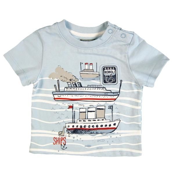 Boys Light Blue T Shirt Boboli Smart Sailor Www Kidsandchic Com
