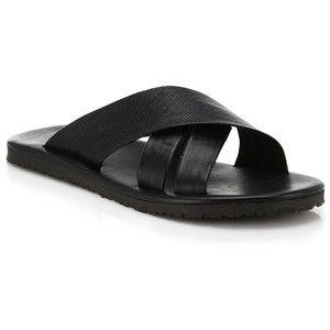 Saks Fifth Avenue Collection - Leather Criss-Cross Sandals