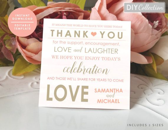 Coral Wedding Thank you note, Beach coral Thank You note, Coral