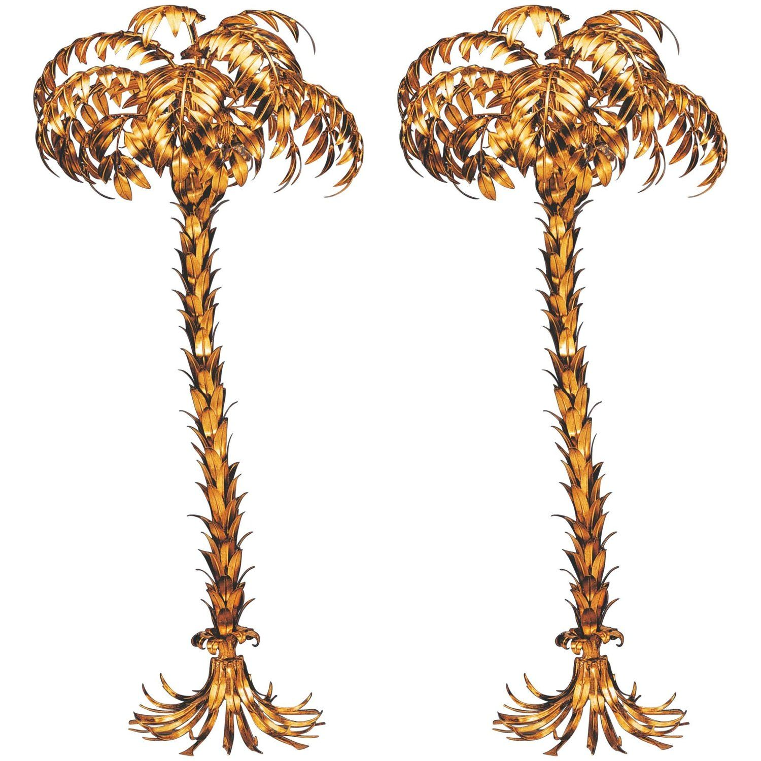 Pair Of Huge Matched Hans Kogl Palm Tree Floor Lamps Tree Floor Lamp Floor Lamp Lamp