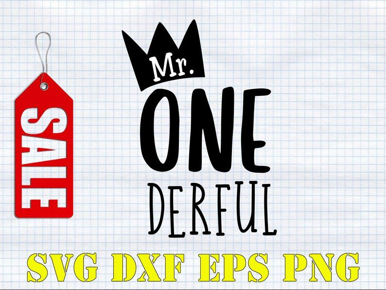 Mr. Onederful svg First Birthday svg Crown svg Boy