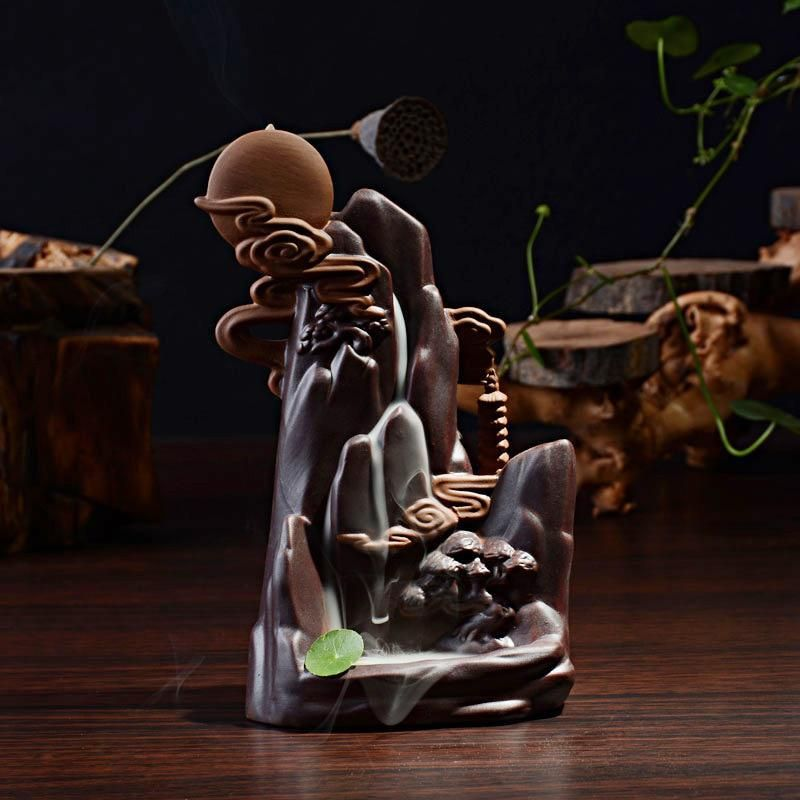 Free Shipping Home Decor Ceramic Backflow Cone Incense Burner