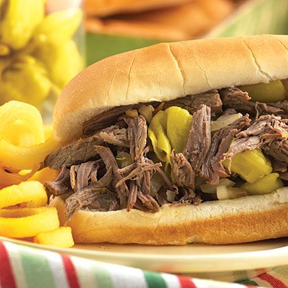 Let your slow cooker do the work for this Pepperoncini Italian Beef Roast recipe. The end result will be juicy, flavorful beef sandwiches...
