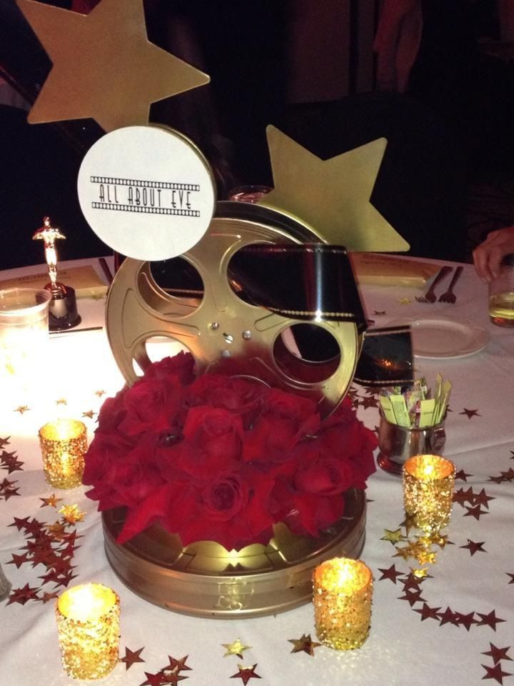 Oscar Themed Party Decoration Ideas Part - 40: One Of The Hollywood Theme Centerpieces For Our Daughteru0027s Party.