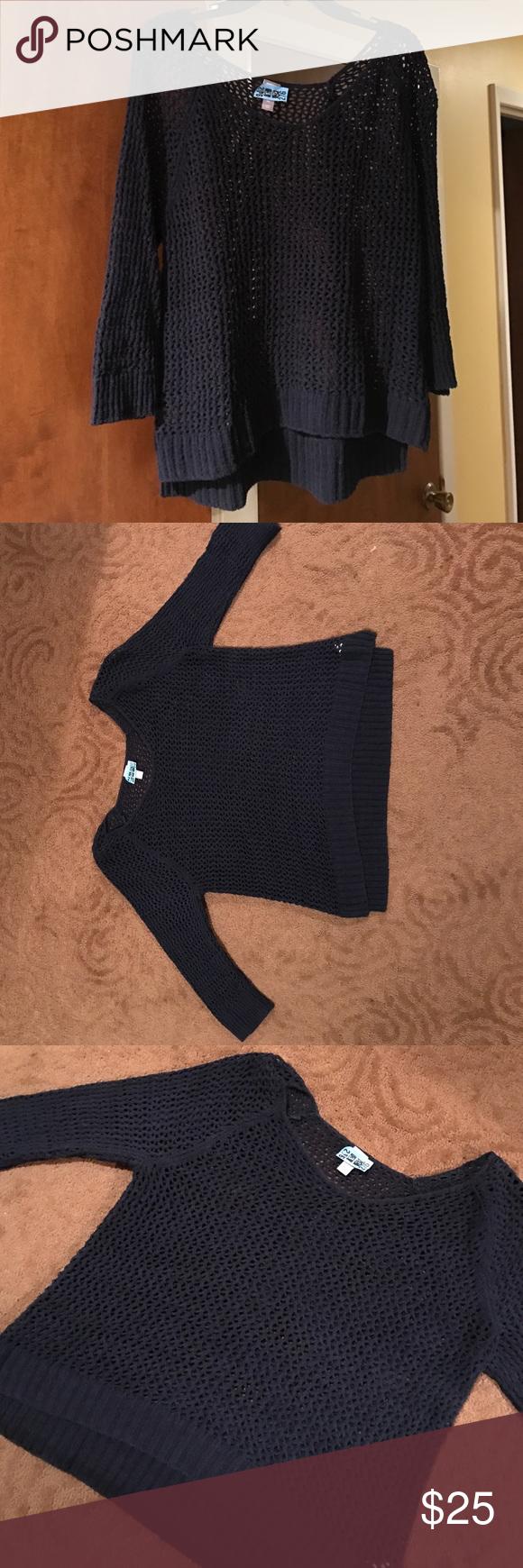 Liz Claiborne Navy See Thru Summer Sweater Navy summer Sweater by ...