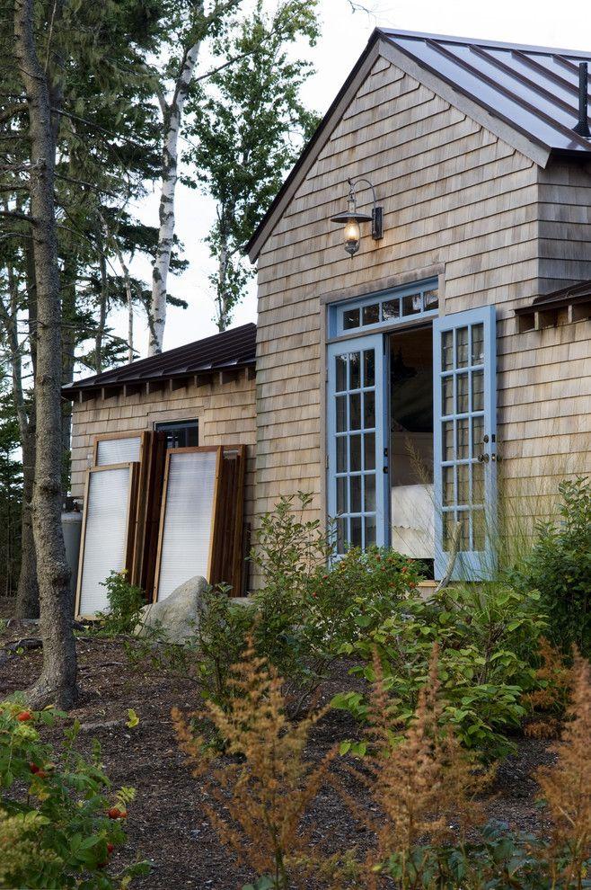 Decorative Exterior Doors house designs Rustic Exterior cabin coastal cottage coastal Maine bunkhouse cottage french doors island living lantern metal roof ... & Decorative Exterior Doors house designs Rustic Exterior cabin ...