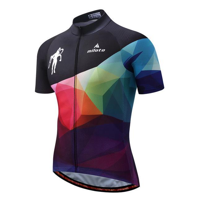 Men S Cycling Jersey Full Zip Bike Shirt 10 Different Prints