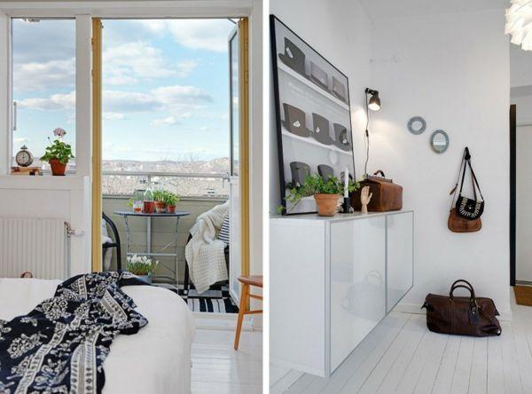 Schlafzimmer Anrichte ~ Cooles apartment design balkon schlafzimmer flur kommode