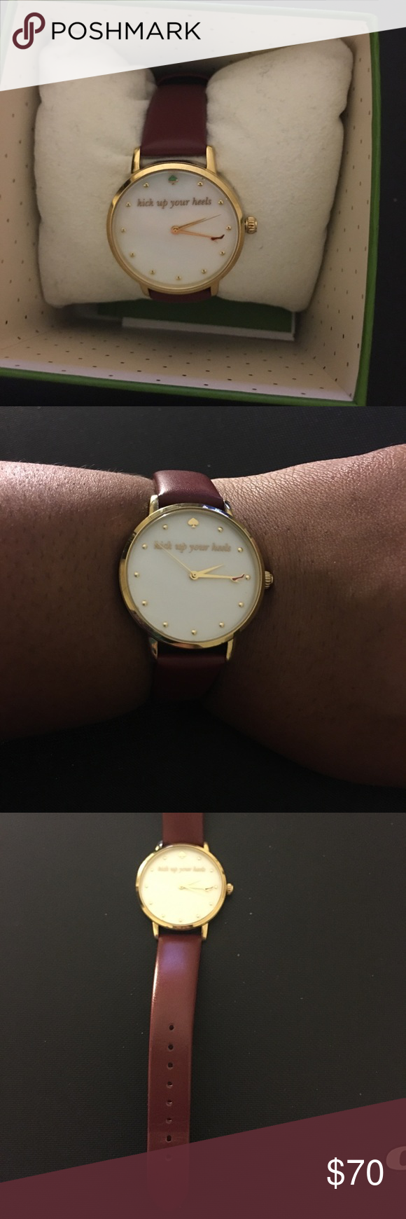 594512d0e34c Kate Spade Women s Watch Kick up your heels. 34mm wine colored kate spade  Accessories Watches