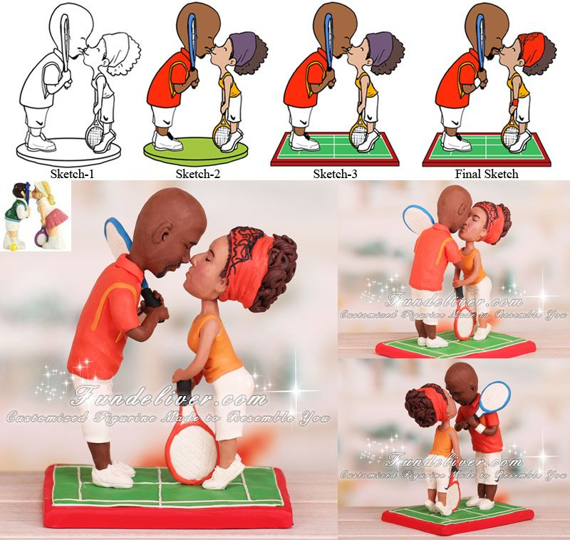 tennis wedding cake topper tennis players wedding cake toppers for my 20798