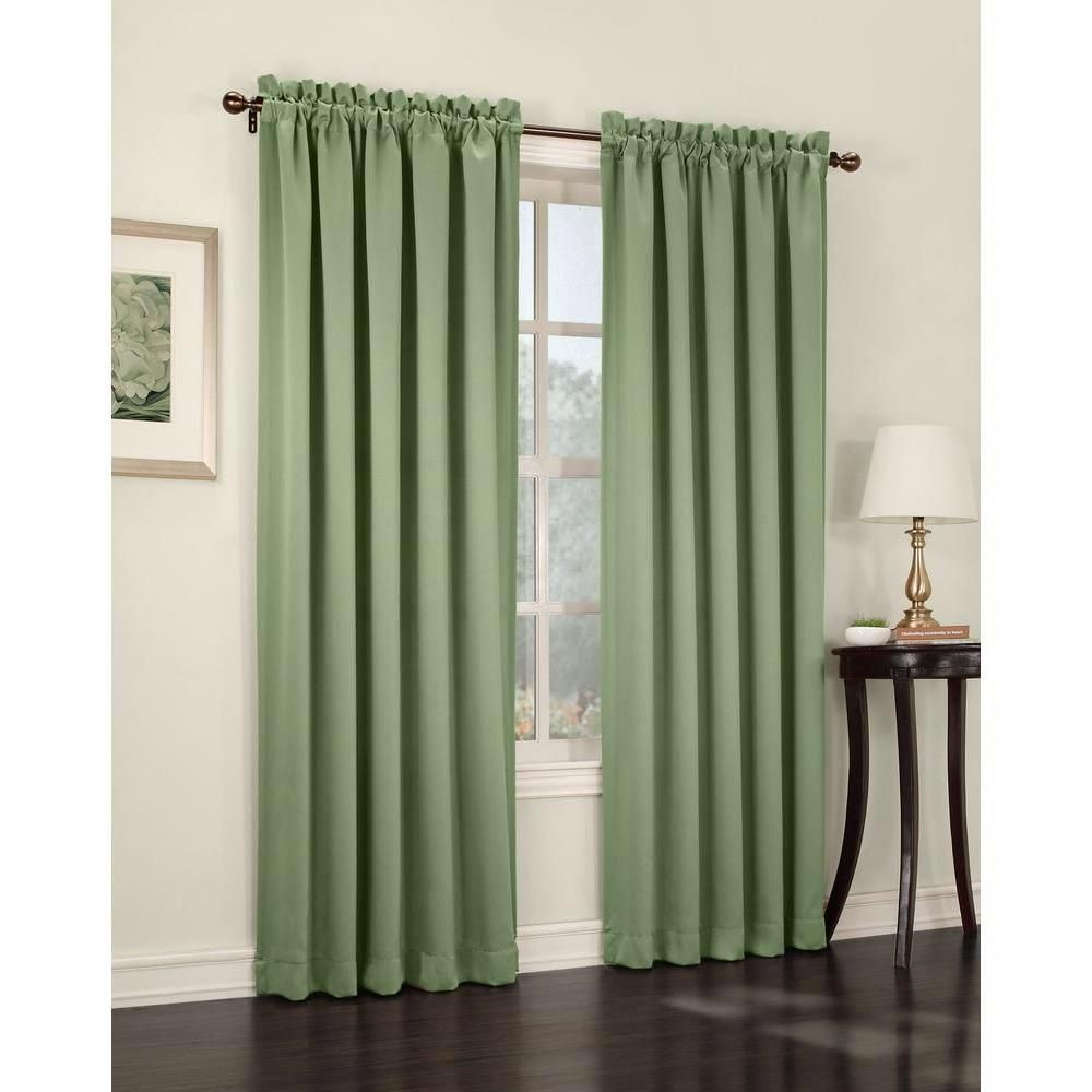 Sun Zero Semi-Opaque Sage Green Gregory Room Darkening