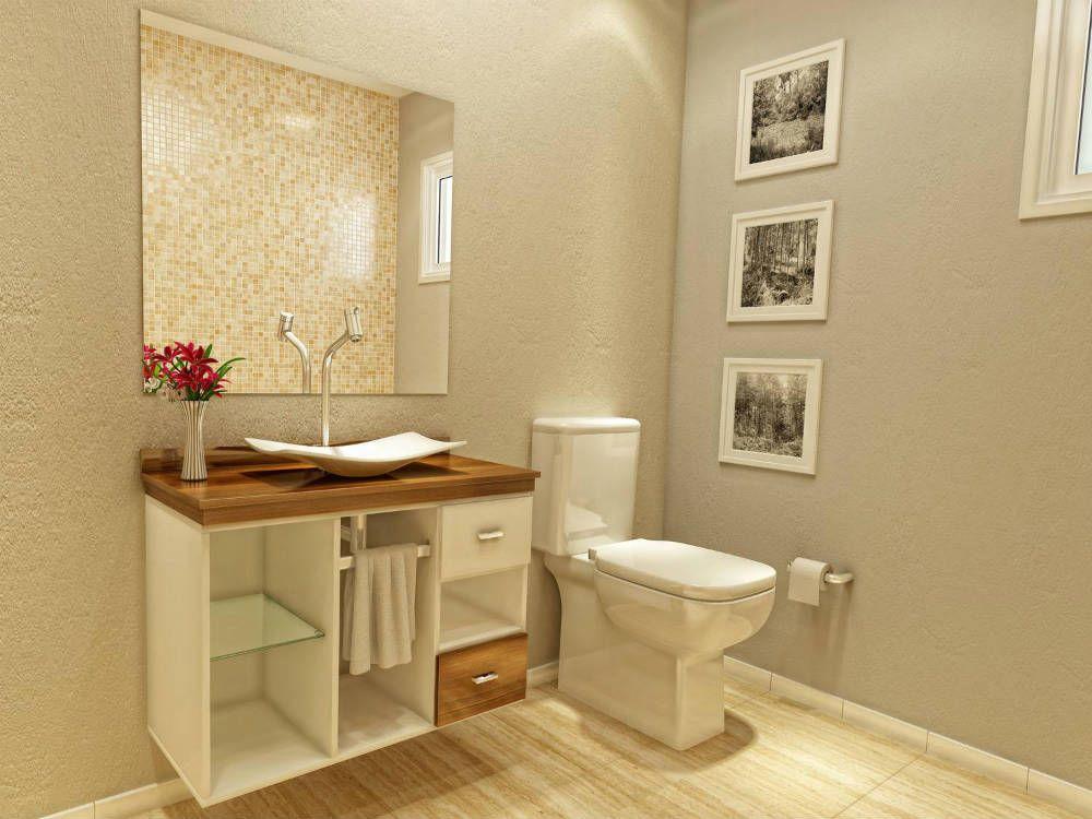 decorado banheiro sem azulejo  Pesquisa Google  Banheiros pequenos e decora -> Banheiro Decorado Azulejo