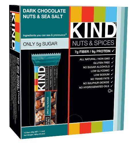 KIND Nuts & Spices, Dark Chocolate Nuts & Sea Salt, 1.4 Ounce 60 Count KIND http://www.amazon.com/dp/B00P2SHBMK/ref=cm_sw_r_pi_dp_EE0avb04BA6YW