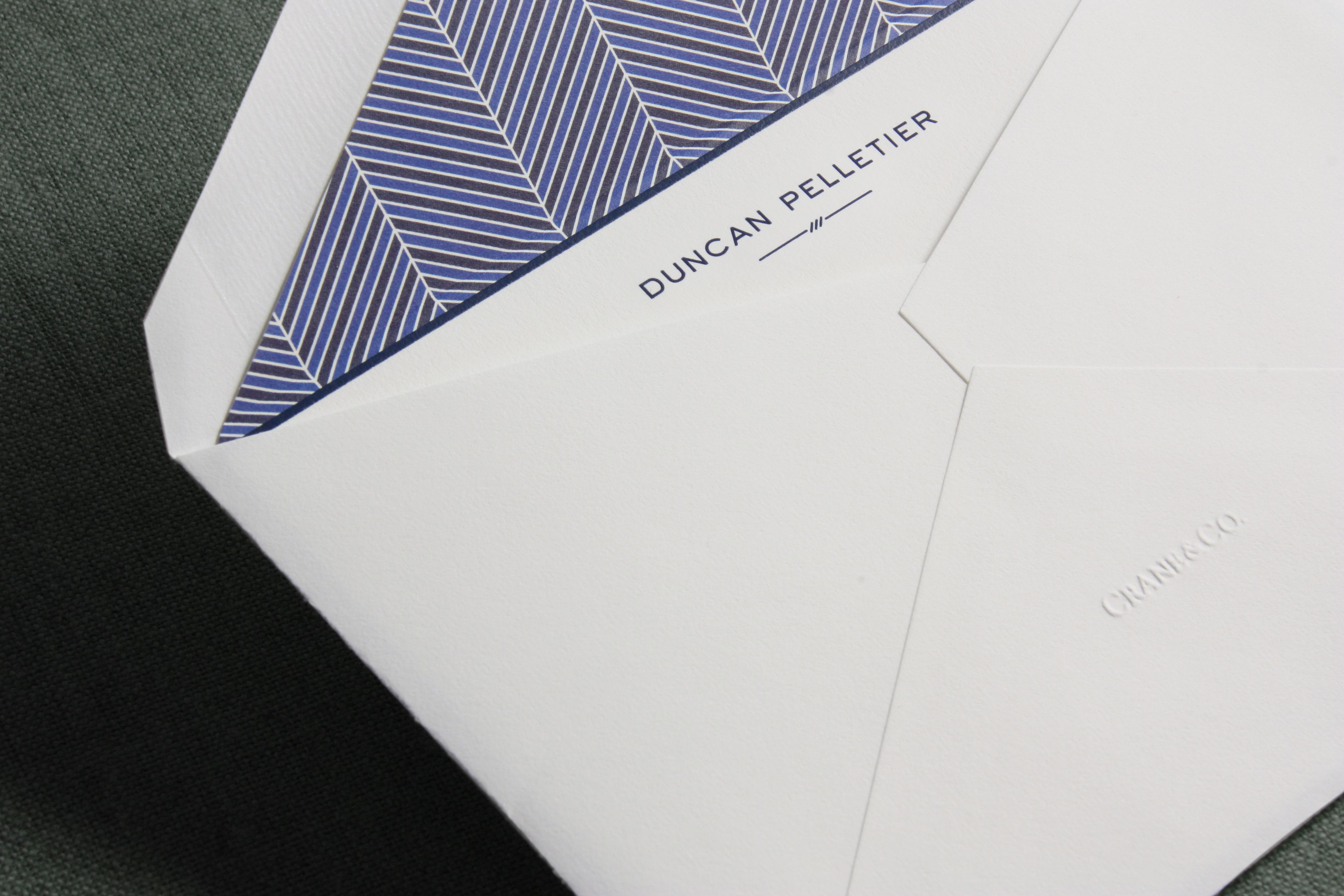 Flat and made of heavy stock the correspondence card is one of the our craftsmen can design and personalize corporate thank you cards jotter cards for employees custom stationery and business cards reheart Images
