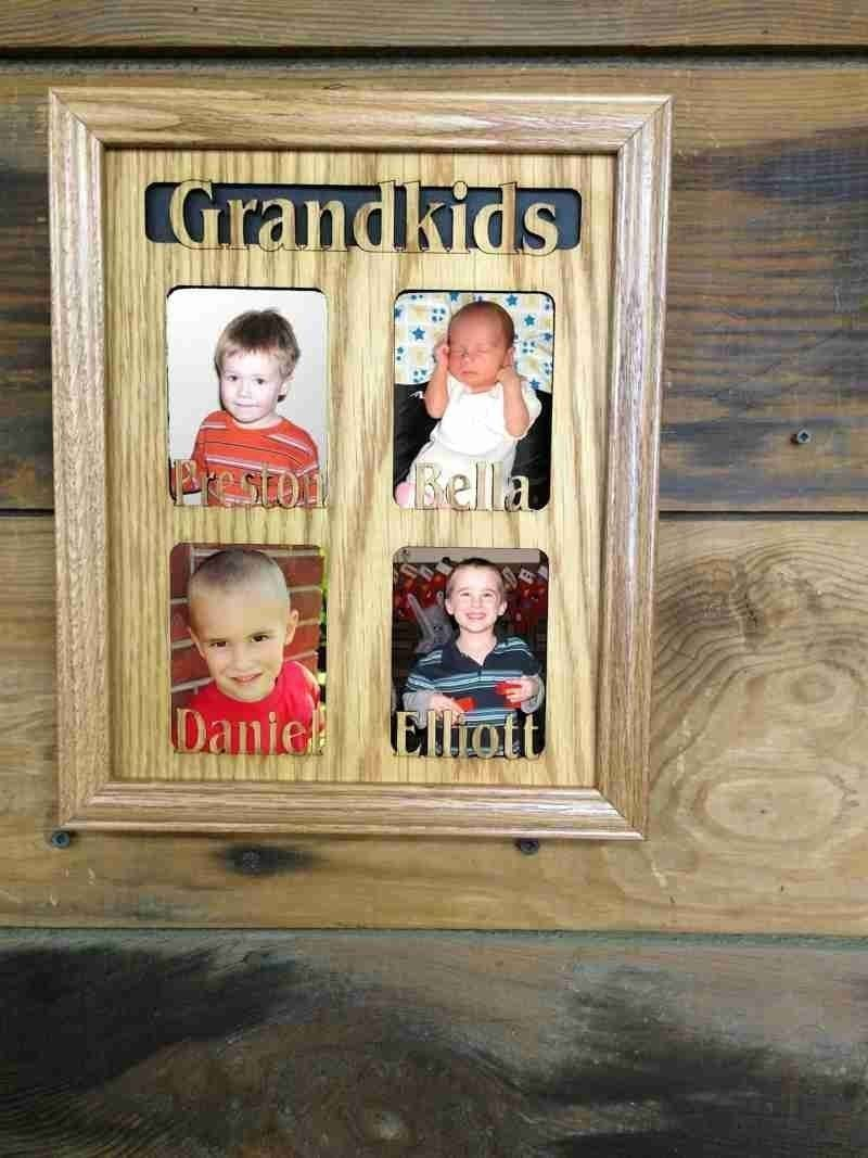 11x14 Custom Grandkids Picture Frame with Names Engraved Wooden ...