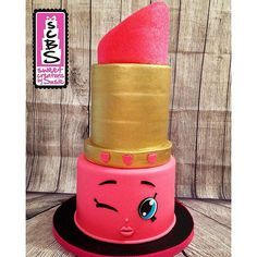 Lovely Lippy Lips Shopkins Cake