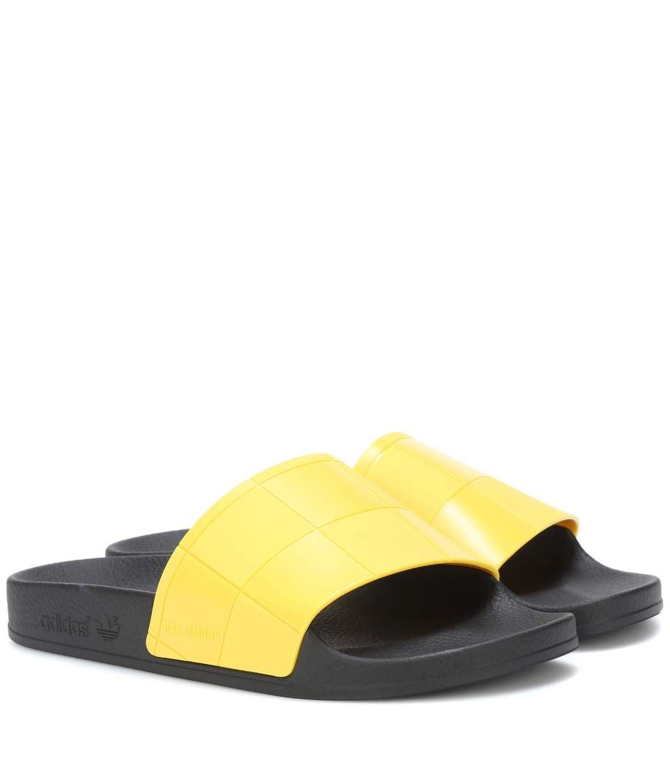 Giuseppe Zanotti Yellow adidas Originals Edition Checkerboard Adilette Slides DCgOtT