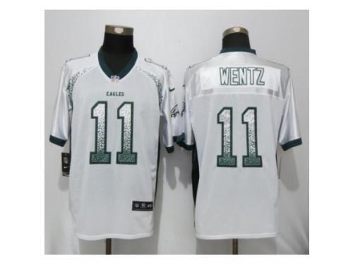 8a4b05a0a4f Youth Nike Philadelphia Eagles #11 Carson Wentz Elite White Drift Fashion  NFL Jersey