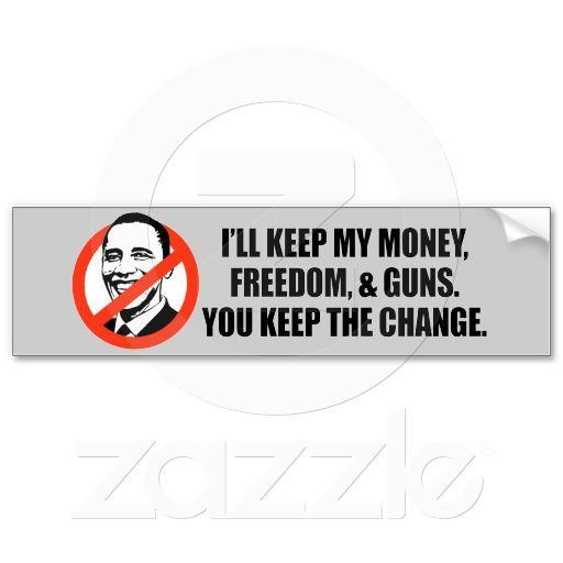 Anti obama t shirt you keep the change bumper stickers anti obama pinterest obama change and republican girl