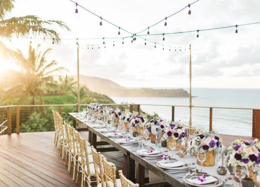 Destination wedding in kauai