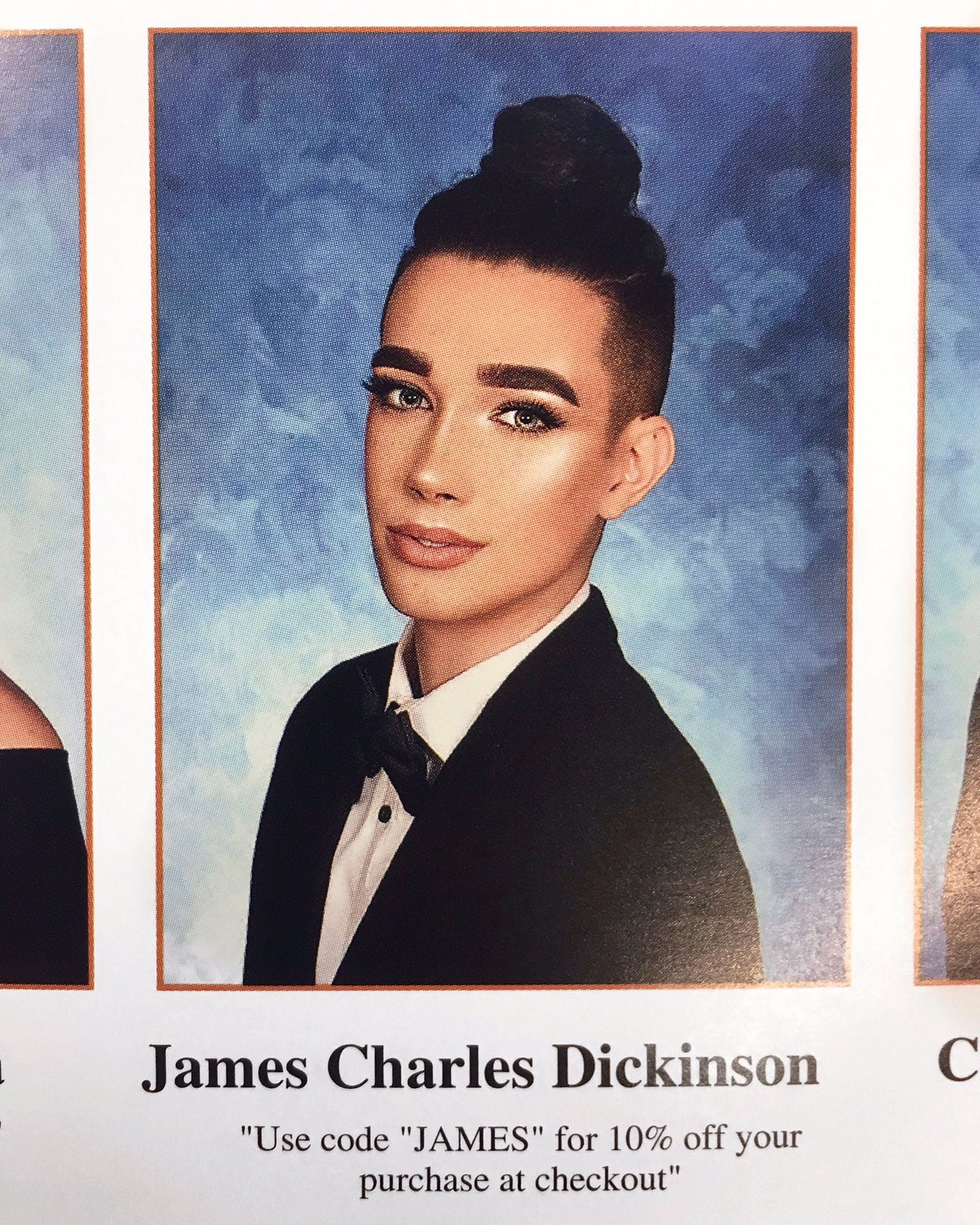 James Charles' Senior Yearbook Quote is Freaking