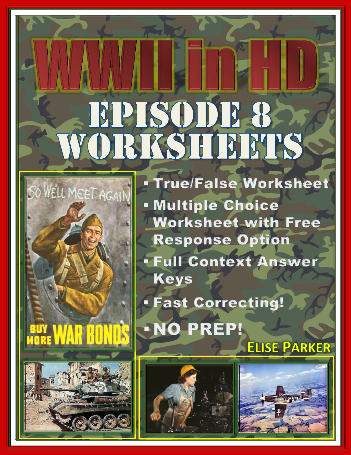 Wwii In Hd Worksheets Episode 8 Glory And Guts