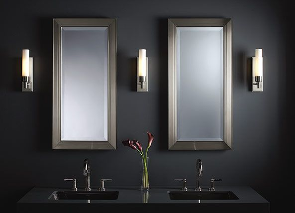 Robern Bathroom Sconces other robern cabinets we liked with chrome frame. metallique