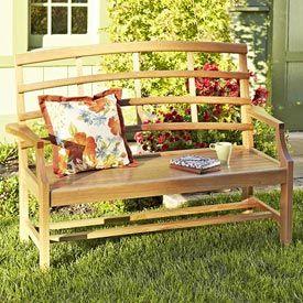 Garden Bench Woodworking Plan, Outdoor Outdoor Furniture