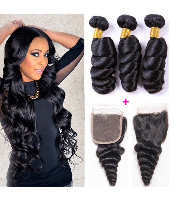 8a Brazilian Loose Wave Hair 3 Bundles Real Hair Extensions 300g