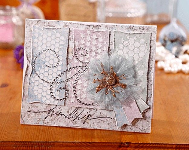 bonus texture paste card  paper crafts cards card making