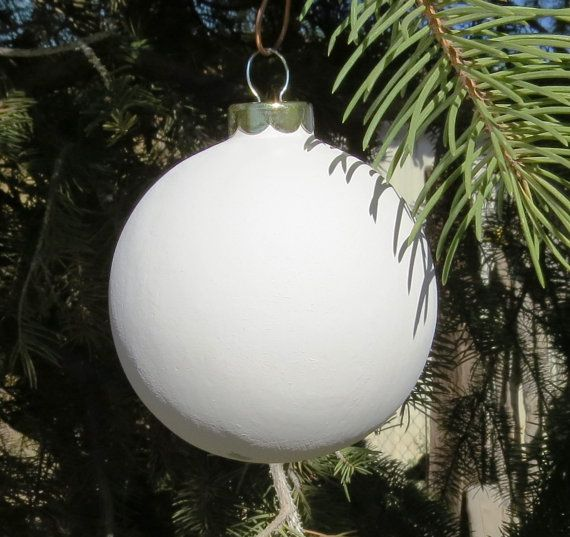 Round plain ceramic bisque Christmas Ornament by 4U2Paint on Etsy ...