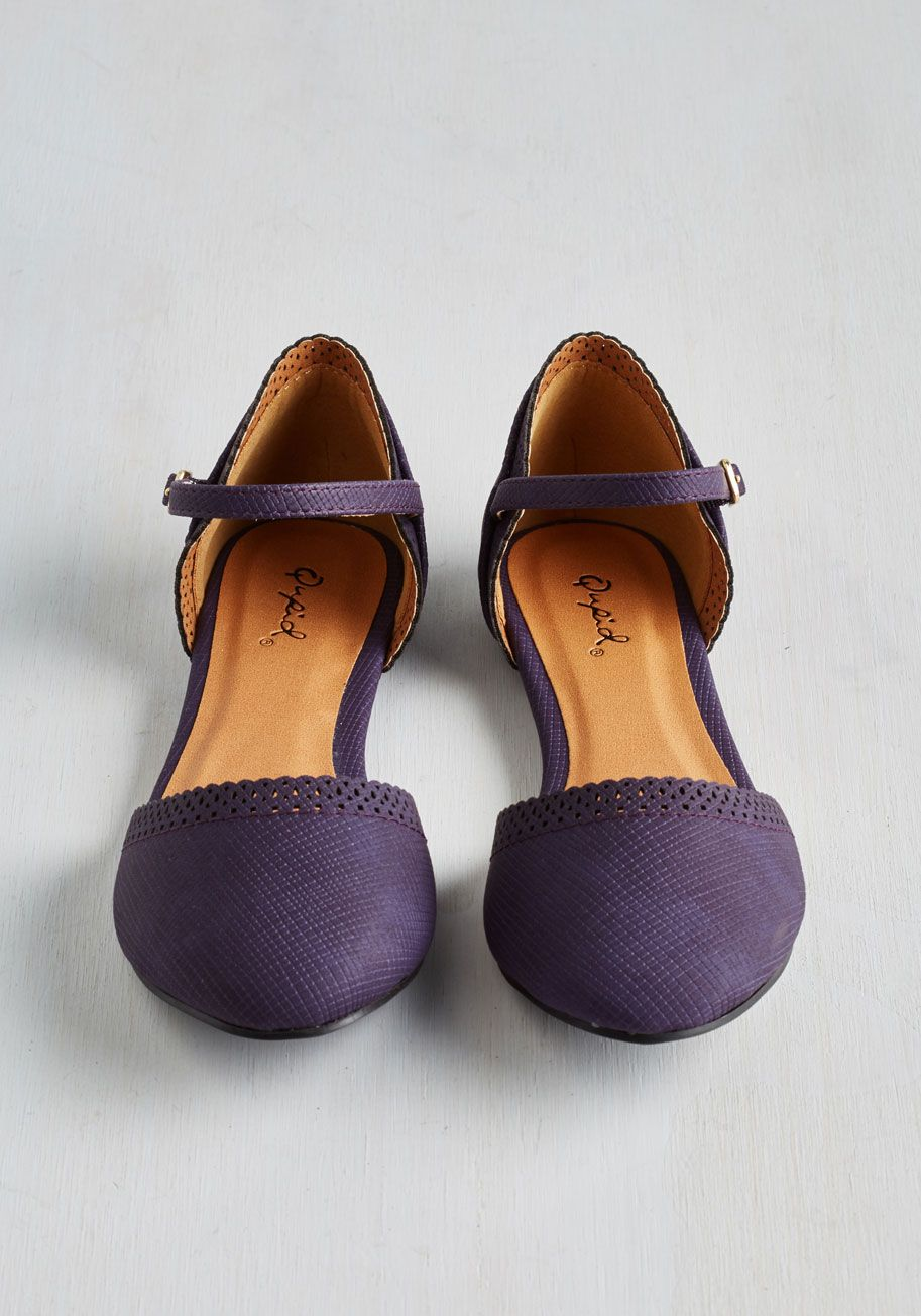 Purple dress with shoes  Cute Across Campus Flat in Purple Whether youure headed to the quad