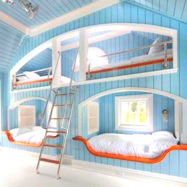 Super Cool For Multiple Kids Room Cool Bunk Beds Built In Bunks Cool Beds