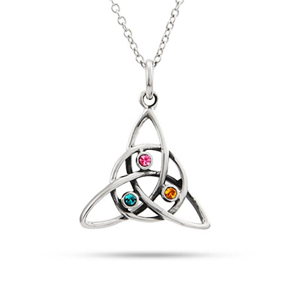 pendant sterling custom birthstone necklace with silver cross stone heart and