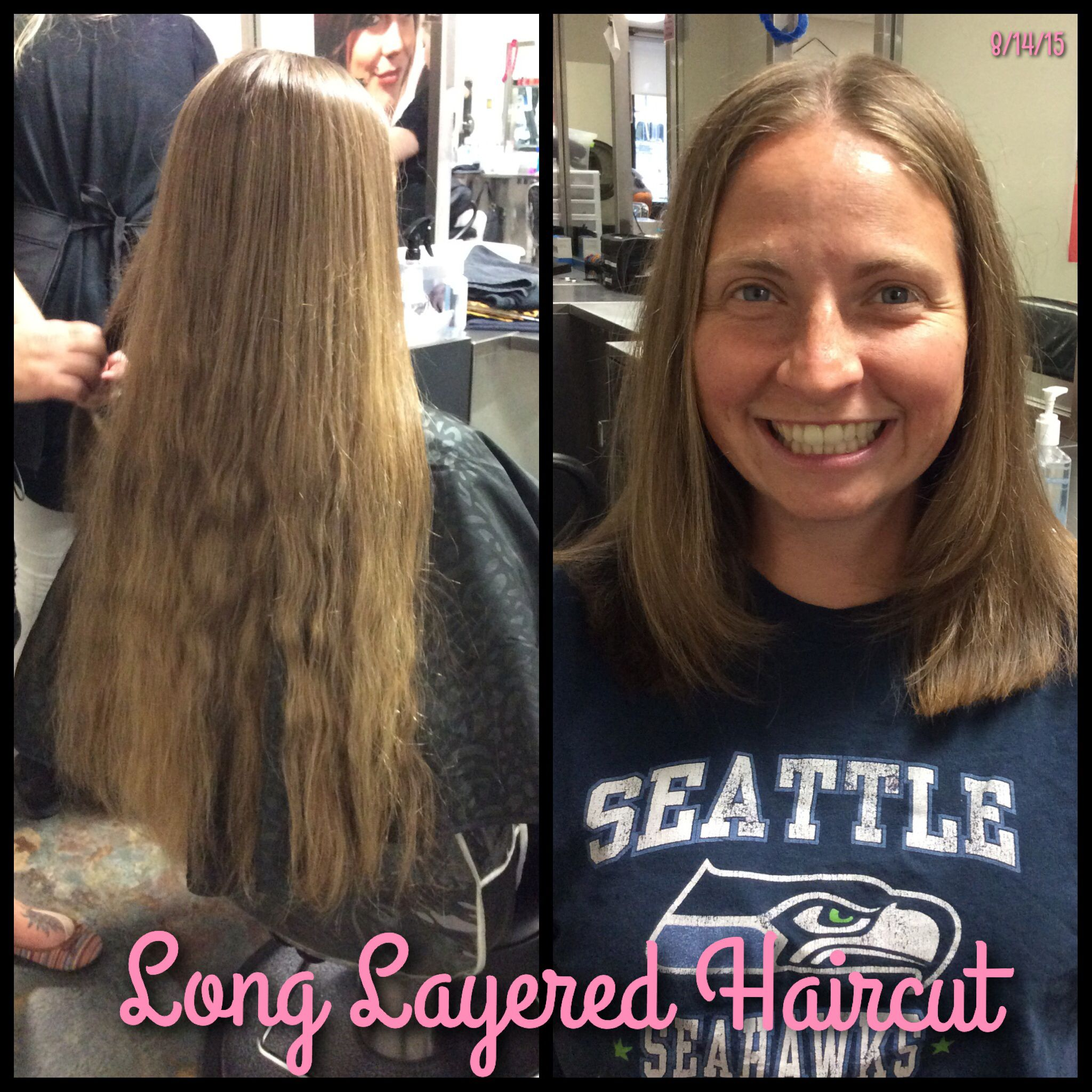 Long Layered Haircut Beautiful hair  inches off  Haircuts By