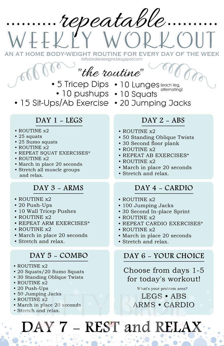 Plan workout routine