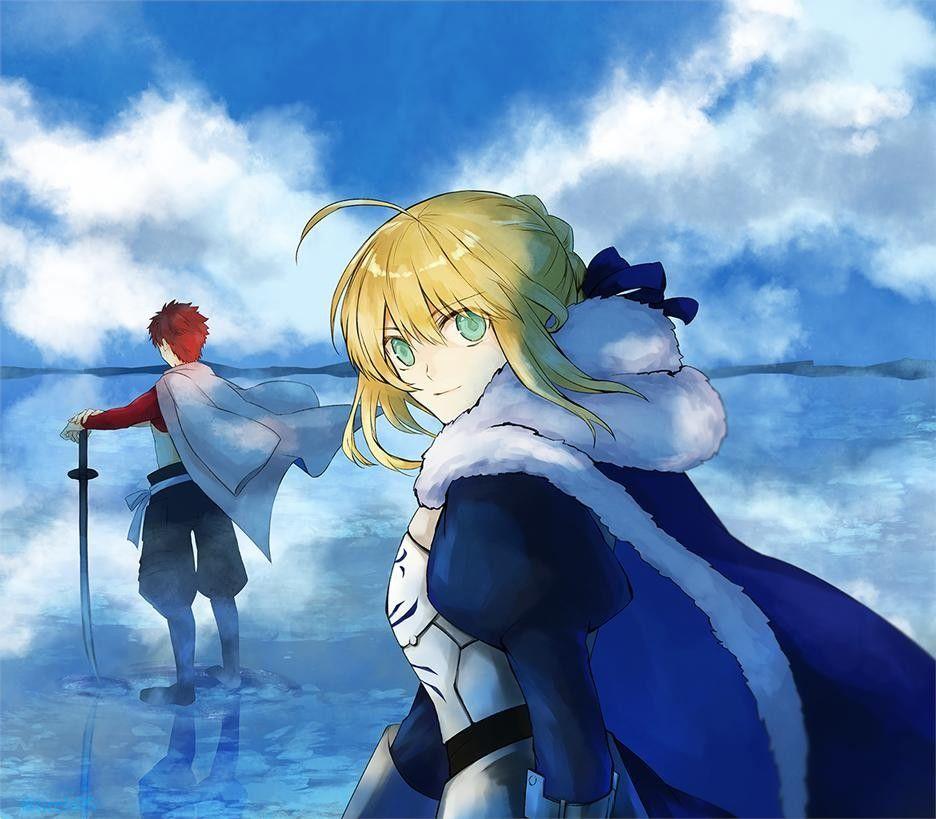 Emiya Shirou X Saber Anime Fate Stay Night Fantasy Art